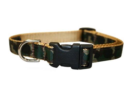 Sassy Dog Wear 10-14-Inch Camouflage Dog Collar, Small, My Pet Supplies