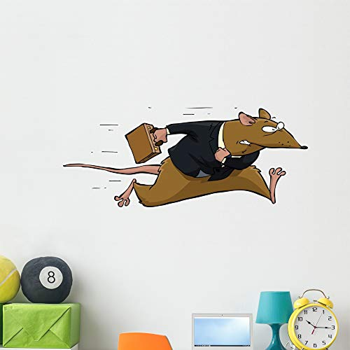 (Wallmonkeys Rat Race Wall Decal Peel and Stick Animal Graphics (48 in W x 20 in H))