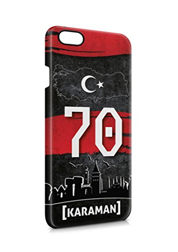 3D iPhone 6 6s Karaman 70 Plaka Türkiye Hard Tasche Flip Hülle Case Cover Schutz Handy