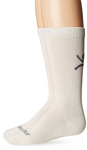 Terramar Liners Kids Over-Calf Sock Liner Sock With A Helicase Sock Ring Size: S - Natural