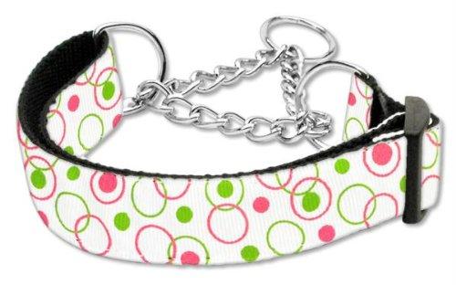 Mirage Pet Products Martingale Retro Nylon Ribbon Collar, Large, White