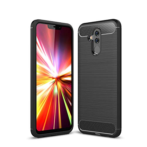 - Huawei Mate 20 Lite Case,AIIYG DS,Carbon Fiber Design TPU Shock Absorption Anti-Scratches Flexible Soft Protective Case for Huawei Mate 20 Lite_Black