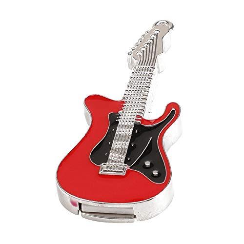 Skyeye Guitarra Eléctrica de Cristal Rojo U Disco Modelo U Disco USB Flash Drive Pen Drive Memoria 16 GB / 32G Espacio…
