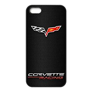 Corvette Racing Two Flags Unique Apple Iphone 5 5S Durable Hard Plastic Case Cover CustomDIY