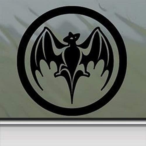 (Bacardi Black Sticker Decal Vintage Black Car Window Wall Macbook Notebook Laptop Sticker Decal by faststicker)