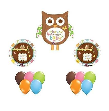 Amazon Happy Tree Owl Baby Shower Balloon Set Owls 13 Whoo