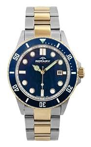 Rotary AGB00027/W/05 - Reloj de caballero de cuarzo, correa de acero inoxidable color varios colores