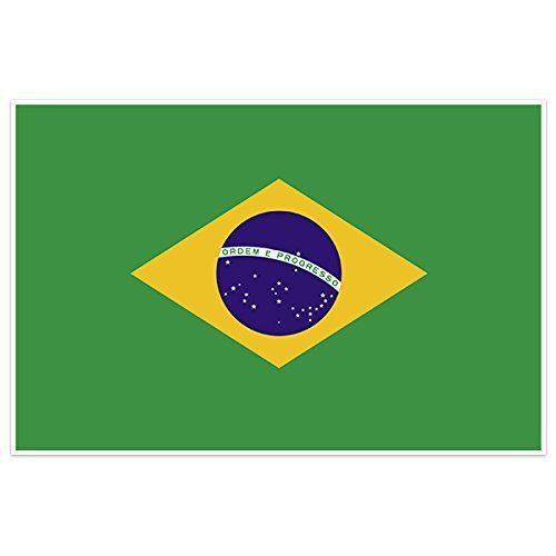 Brazil Country Flag Wall Art - Usps Brazil Ship To