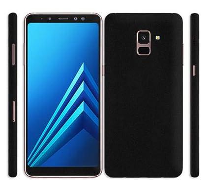 507892e27 GADGETS WRAP Samsung Galaxy A8 Plus Black Matte Skin  Amazon.in  Electronics