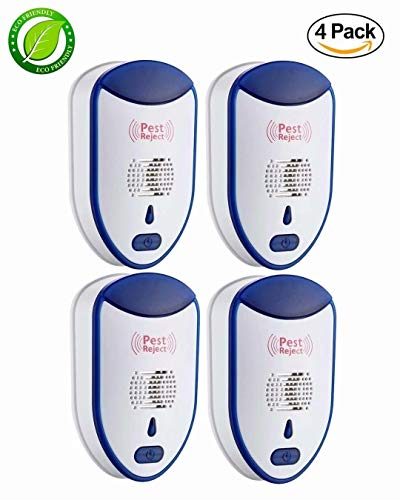 Yomitek Pest Ultrasonic Mosquito Repellent for Home Indoor-Quickly Removes Bugs Cockroaches Spiders Fleas Rats Mice Rodents Roaches Fruit Flies and More -Non-Toxic Eco-Friendly, Safe for Human & Pets(style 18)
