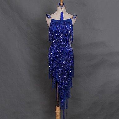 Dancewear Balli latino-americani Abiti Per donna Da esibizione Elastene Cristalli/Strass Fiocco 1 pezzo Senza maniche Vestiti, l