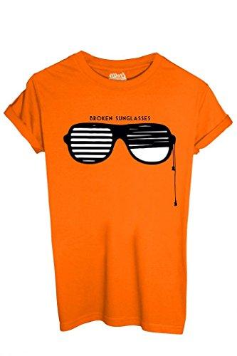T-Shirt Broken Sun Glasses - Lustig By Mush Dress Your Style