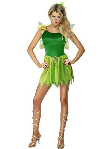 Fest Threads 3 PC Women's Woodland Magical Fairy Green Dress & Wings w/Headpiece Costume