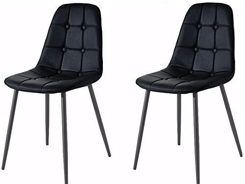 Lucia 4X Esszimmerstuhl Küchenstuhl Besucherstuhl Schalenstuhl Polsterstuhl Kunstleder Modern Retro Design (schwarz, 4er Set)
