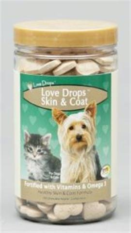 NaturVet Love Drops Plus Omegas 200 Chewable Hearts
