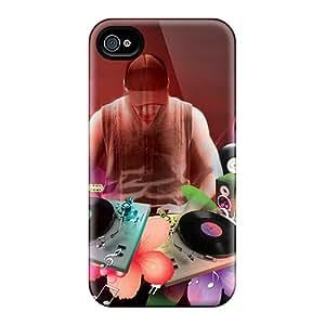 New Tpu Hard Case Premium Iphone 4/4s Skin Case Cover(music Dj)