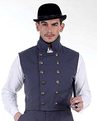 Men's Steampunk Vests | Men's Steampunk Fashion Steampunk Victorian Costume Herschel Grey Vest Jacket  AT vintagedancer.com