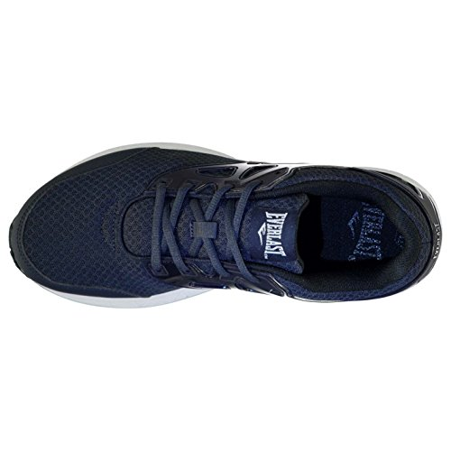 Everlast Mens Yon Cage Coureurs Chaussures Baskets Lace Up Running Sport Training Navy / White