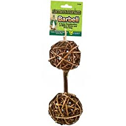 Ware Manufacturing Natural Woven Willow Small Pet Barbell Chew Toy, Large