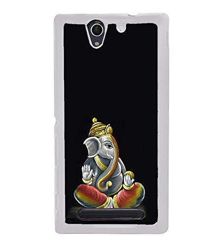 Fiobs Gold Ganapati Ganesh Ganesha Designer Back Case Cover For Sony Xperia C3 Dual :: Sony Xperia C3 Dual D2502