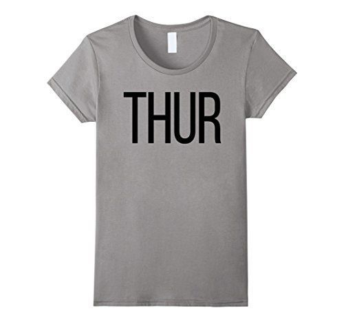 Womens Thursday T-Shirt Days of the Week T-Shirts, Costume, Shark Medium Slate