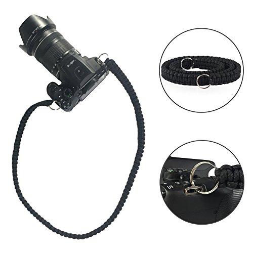 Price comparison product image SOMA Camera Strap Paracord 550lb Vintage Camcorder Shoulder Neck Strap Belt for Canon Nikon Sony Olympus SLR DSLR Cameras (Black)