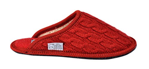 Slippers Red Braided Boiled Clare Le Wool for Men BI0Cxqn8