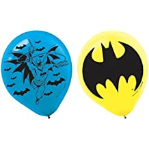 "AMI 111386 Batman Latex Balloons, 6 Pieces, Made from Latex, Batman birthday party, 12"" by Amscan"