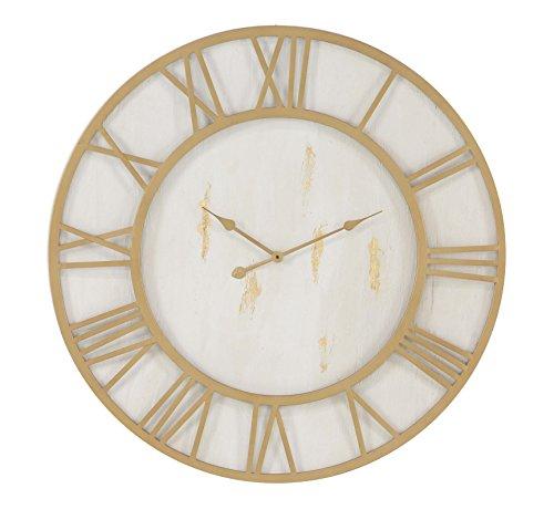 Deco 79 27280 Wall Clock Gold/White (White Gold White Clock)