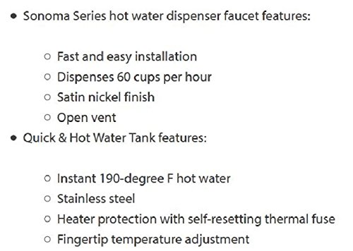 Waste King H711-U-CH Hot Water Dispenser Faucet and Tank Combo Unit ...