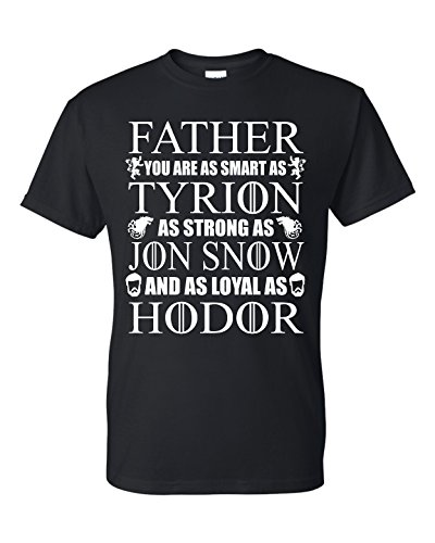 Game of Thrones T-Shirt Fathers Day T-Shirt Daddy Tee Shirt (2XL) Black