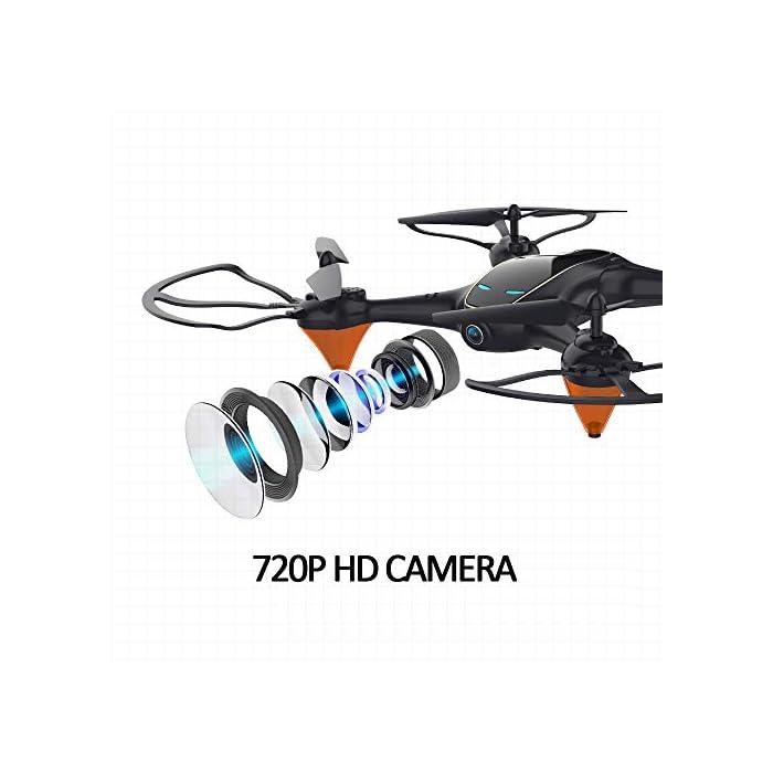 Tome fotos y videos HD, disfrute de la función FPV: el dron E58 está equipado con una cámara HD 720P de gran angular de 120 ° que incluye ángulo ajustable, que captura videos de alta calidad y fotos aéreas claras. El sistema FPV de transmisión en tiempo real de Wi-Fi se puede conectar a su teléfono con el dron y la vista se mostrará directamente en su teléfono, por lo tanto, disfrute del mundo por encima del horizonte, capture con precisión fotos y grabe videos para momentos extraordinarios. Puede llevarse alrededor y brazo de dron reemplazable: el pequeño fuselaje contiene un rendimiento excelente, un diseño plegable inteligente, le permite viajar ligero, disfrutar de la diversión de vuelo. El brazo del dron es reemplazable, cuando el motor o el brazo del dron están rotos, no necesita preocuparse de que el dron ya no funcione. Simplemente reemplace el brazo del dron y puede volar nuevamente. Es fácil para todos volar el dron: en el modo de retención de altitud, puede bloquear con precisión la altura y la ubicación, desplazarse estable y capturar videos o fotos desde cualquier ángulo de disparo, lo que hace que la experiencia sea muy fácil y conveniente, incluso un novato, puede jugar dis drone fácilmente. El dron despega automáticamente y aterriza con un clic, lo cual es muy útil. Hay una función de aterrizaje de emergencia para evitar colisiones con otras cosas.