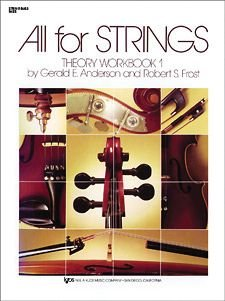 - All For Strings - Theory Workbook 1 for Double Bass by Gerald E Anderson and Robert S Frost