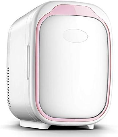 SXYY-6L Kleiner Kühlschrank Für Auto, Mini-Studentenschlafsaal Kühlschrank - AC 220V/DC 12V Tragbarer Heiz- Und Kühlthermostat, Für Schlafzimmer/Kosmetik/Muttermilch/Haushalt/Reisen,Pink White