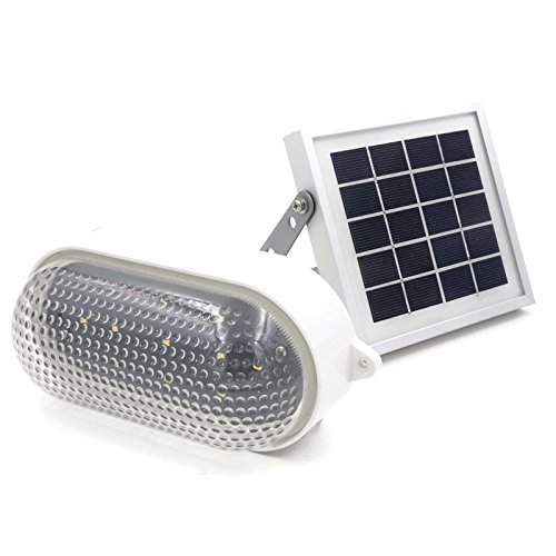 RIZE Solar Industrial Light (Warm White LED) // Solar Wall Light Vintage Style // Solar Shed Light // Dock Light