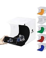 WJH 20cm Folding Portable 550LM Light Photo Lighting Studio Schieten Tent Box Kit met 6 Kleuren Backdrops (zwart, wit, oranje, rood, groen, blauw), Unfold Maat: 24cm x 23cm x 22cm (Color : Color3)