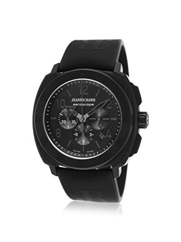 Jeanrichard 60650-21K614-Fk6a Men's Aeroscope Auto Chrono Black Rubber And Dial Black Accents Watch