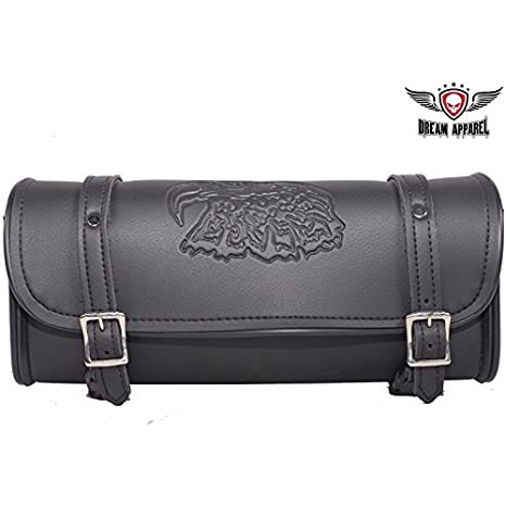 Universal Fitting Black Motorcycle Tool Bag With Flames 12