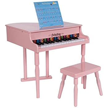 Amazon Com Baby Grand Piano Pink Toys Amp Games