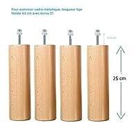 Wood Select Pied lit 25 cm Plusieurs Types de Fixation