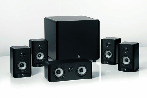 Boston Acoustics A 2310 HTS 5.1 Home Theater Speaker Package with 100-Watt Powered Subwoofer (Gloss Black) (Discontinued by Manufacturer) Top Price