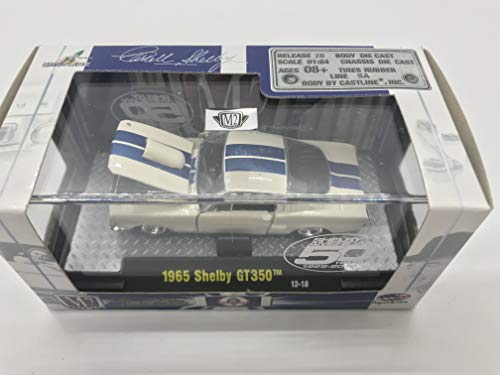 M2 Machines Shelby 1956 Shelby GT350 1/64 12-17 Blue Stripe White Details Like NO Other! Over 42 Parts from M2 Machines