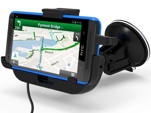 HTC One, HTC One M7 Car Mount Dock With Built In Car Charger - Windshield & Dashboard