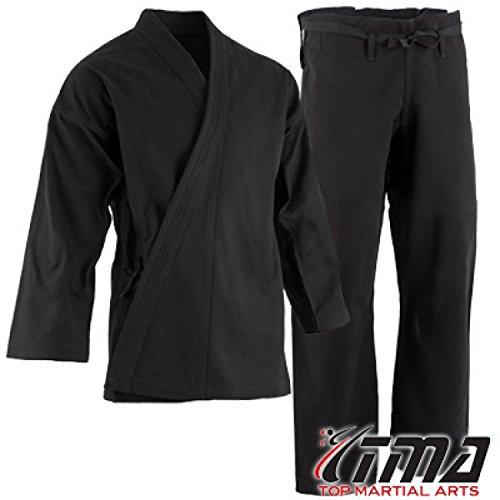 Heavyweight Karate Pants - TMA 12 oz Extra Heavyweight Brushed Cotton Drawstring Uniform Karate Gi (6)