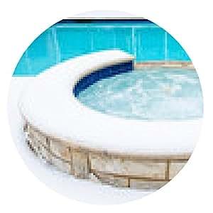 alfombrilla de ratón bañera de hidromasaje caliente en el invierno - ronda - 20cm