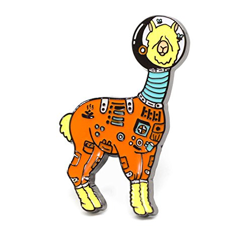 - Compoco Llama Astronaut Lapel Pin in a Spacesuit with Flies Flying Inside The Helmet