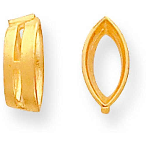 14K Gold Marquise Airline Bezel Setting 4.5x2mm