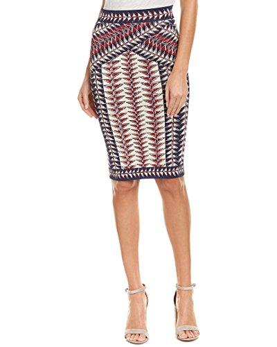 BCBGMAXAZRIA Women's Leger Jacquard Printed Knit Skirt, Dark Midnight Combo, S by BCBGMAXAZRIA