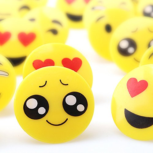 Amy & Benton Plastic Emoji Cupcake Rings for Kids 60PCS 1.38 Inches