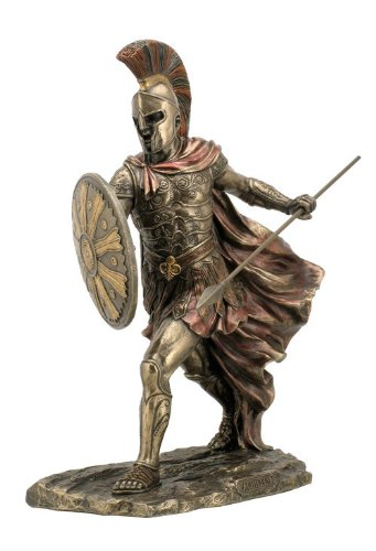 wu Sale – Achilles Unleashed with Spear Shield Statue Sculpture Figurine Troy